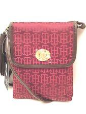 TOMMY HILFIGER XBody Messenger Bag *Burgundy/Brown/Gold *Small Shoulder Purse