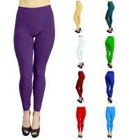 Belle Donne Women's Fleece Lined Warm Stylish Leggings Solid Color Pants