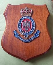 Vintage THE BLUES AND ROYALS Shield Plaque Hand painted Oak Backed