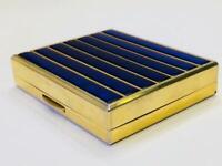 Vintage Trinket Powder Box Compact Gold Mirror & Enamel Christian Dior Paris