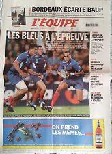 L'Equipe Journal 25/10/2003; Coupe du monde Rugby/ Baup/ Grosjean/ Loeb/ Marion