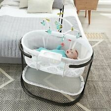 Fisher-Price Soothing Motions Bassinet Bedside Sleeper with Light Projector