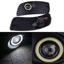 Pair Fog Angel LED Light Lamp Bumper Grille Cover For VW Golf Jetta MK5 06-09