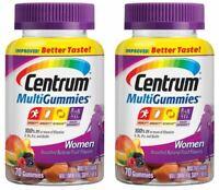 Centrum Women MultiGummies MultiVitamin Cherry,Berry & Orange  70 ea 2pks