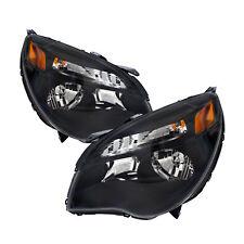 10-15 Chevrolet Equinox Lt/Ls Black New Headlights Headlamps Set