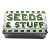 Seeds & Stuff gardening supplies gift idea Metal Storage Tin Box A035 shed