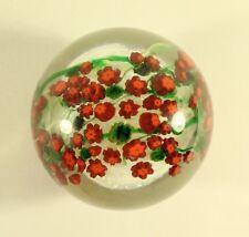 Poinsettia Art Glass Paperweight By Shawn Messenger Artist Signed