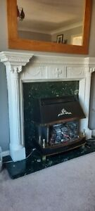 fire surround back plate and hearth