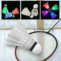 4 Stück / SET Dark Night Bunte LED Badminton Feder Federball Federball O1W7