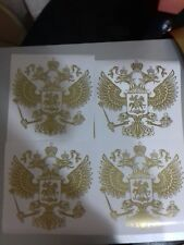 GOLD Coat of arms of Russia car body sticker Russian Eagle Decal Decoration...