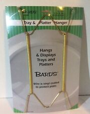 """1 COLLECTOR Plate WIRE HANGER BRASS COLOR HOLDS 16"""" BY 30"""" PLATTERS OR TRAYS"""