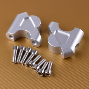 2pcs Motorcycle HandleBar Handle Fat Bar Mount Clamps Riser Fit For BMW R1250GS