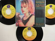 LOT OF 4 ' MADONNA ' HIT 45's+1PS [Crazy For You]        THE 80's!