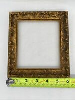 "Vintage Gold Embossed 3-D Release Picture Frame 6"" X 7"""