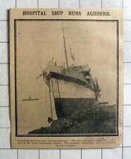1915 Hospital Ship Runs Aground