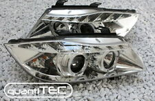 KLARGLAS CHROM ANGEL EYES LED STANDLICHTRINGE SCHEINWERFER SET BMW E90 E91 3er