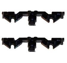LEGO Train Parts Pack Of 2 x Black Decorative Sides Wheel Bogie Spare No 2871