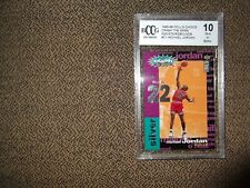 1995-96 UD COLLECTOR'S CHOICE CRASH THE GAME SILVER MICHAEL JORDAN BGS/BCCG 10