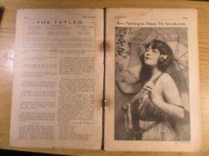THE TATLER MAGAZINE AUG, 1921 THEATRE STAR BEAUTIES ANN PENNINGTON ETC RARE