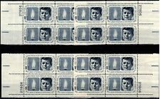 USA 1964 Sc1246 1 Matched Plate blocks mnh Kennedy Memorial Issue