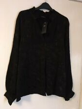 Ladies M&S Black Blouse Size 14 bnwts rrp £32.50