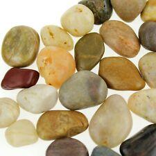 River Stones Pebbles Garden Rocks, Assorted, 1/2-inch