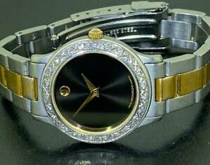 MOVADO LADIES JUNIOR SPORT BLACK DIAL DIAMOND WATCH