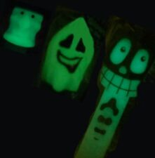 3 GLOW-IN-THE-DARK PEZ: WITCH, SMILEY GHOST & SKELETON~MIP~PRICED TO SELL!