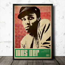 MOS DEF Hip hop Art Poster Affiche Musique rap MF Doom Flying Lotus commun J Dilla Madlib