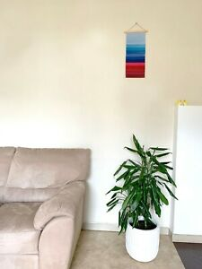 Wall Textile Hanging Rainbow Fiber Multicolored Art Decoration