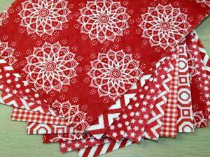 Patterned Soft Craft Felt Assortment Pack - Reds