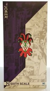 DC Comics THE JOKER Sideshow Sixth Scale Collectible Figure ~ NEW ~ UNOPENED