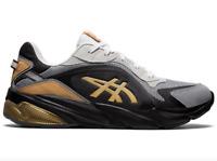 Asics Gel Miqrum Sheet Rock Pure Gold QUANTUM 90  Black Trainers Sneakers