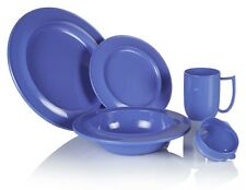 Dementia Friendly Crockery Range Individual Items Blue Ivory Or Yellow Melamine