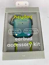 Heyday Earbud Accessory Kit Teal Case Cover & Strap Fits AirPods Charging Case