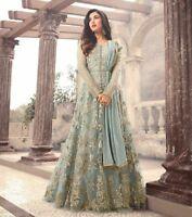 Indian anarkali salwar kameez suit bollywood pakistani designer wear 158...