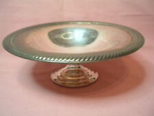 VINTAGE CANDY-DISH-PEDESTAL-COMPOTE-WM-ROGERS-STAR-EAGLE-SILVER-PLATED