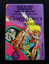 Grateful Dead Backstage Pass Puzzle VW Bus Capital Centre Maryland MD 3/16/1993