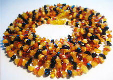 Wholesale 10pcs Baby  Necklaces Baltic Amber Chips Multi Color 33cm