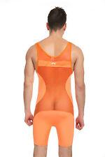 Body débardeur orange taille XL transparence sheer plum sexy Ref 320 combinaison