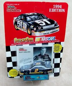 RUSTY WALLACE 94 MILLER MGD FORD RACING CHAMPS 1/64 MOC