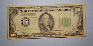 1934 UNITED STATES One Hundred $100 Dollar Federal Reserve F  Note Atlanta