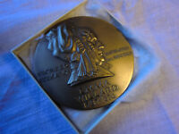 "Medallic Art Company MAC Emma Willard Large 3"" Bronze Medal 1967 3 Inches!"