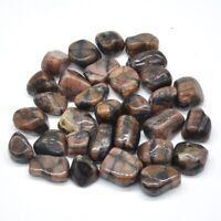 1/4lb Natural Chiastolite Gemstone Crystal Healing Reiki Gravel Tumbled Stone