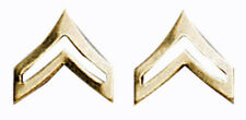 US Army Corporal E4 Insignia Gold One Pair Military Approved 1642
