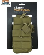 Tactical Single Duo Mag Pouch Coyote MOLLE Ammo Airsoft Quick Release Military