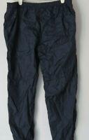 vtg Black NYLON DAVID TAYLOR Track Pants MEDIUM Elastic Waistband Lined Men's M