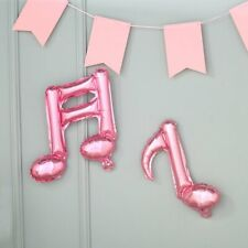 6 Rose Gold Music Notes Mylar Foil Balloons Wedding Birthday Party Decorations