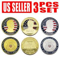 3PCS Joe Biden Coin Commemorative Souvenir Challenge Coin New Silver/Gold