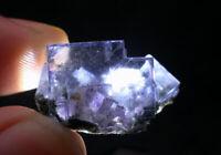 "12g Rare Transparent Blue ""Phantom"" Fluorite Crystal Mineral Specimen/China"